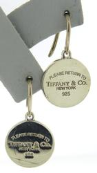 Tiffany & Co Round Tag Dangle Earrings
