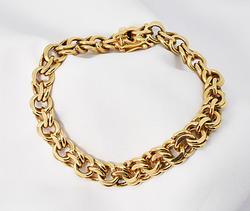 Gorgeous Double-Link Charm Bracelet in 14K