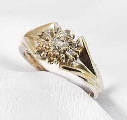 Modern Multi-Diamond Ring in 10K White Gold
