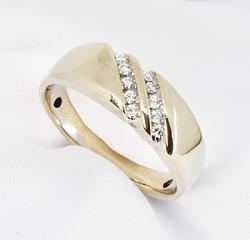 Tasteful Men's .25 Ct. TW Diamond Ring in 14K WG