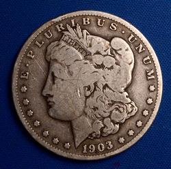 Tough Date 1903-S Morgan Dollar, Circ