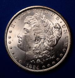 1884-CC Morgan Silver Dollar, BU