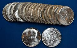 BU Roll of 40% Silver Kennedy Half Dollars