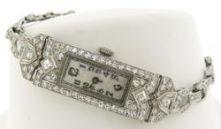Antique Platinum Diamond Ladies Watch