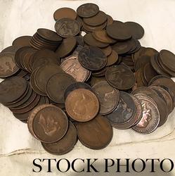 150 Assorted British Copper Pennies