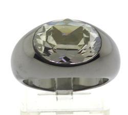 Tungsten Swarovski Clear Crystal Ring