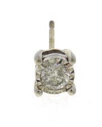 Sterling Silver Single Stud Earrings