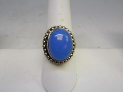 Silver tone Gemstone Ring