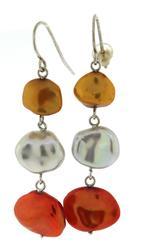 Sterling Silver Gemstone Dangle Earrings