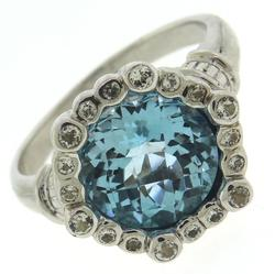 925 Sterling Silver Blue Topaz Cocktail Ring