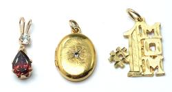 Amazing Pendant Lot in 14kt Yellow Gold