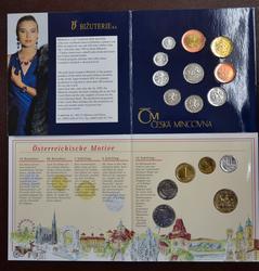 1995 Austria and Czech Mint Sets