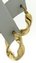 Popular 18kt Twisted Hoop Earrings