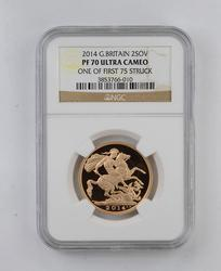 PF70UCAM 2014 Great Britain 2 Sovereign - One of First 75 Struck - NGC
