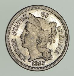1886 Nickel Three-Cent Piece - Circulated