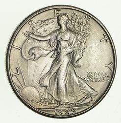 1929-D Walking Liberty Half Dollar - Circulated