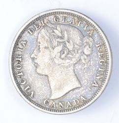 1858 Canada 20 Cents - Circulated