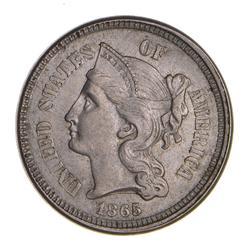 1865 Nickel Three-Cent Piece - Choice