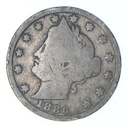 1886 Liberty V Nickel - Circulated