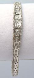 Fancy Sterling Silver Link Bracelet
