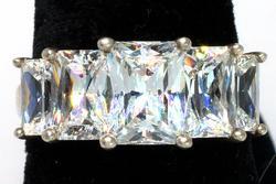 Flashy CZ Sterling Silver Ring