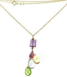 Fabulous Multi Gemstone Briolette Necklace
