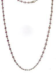 Stunning Pink Sapphire Diamond By Yard Necklace