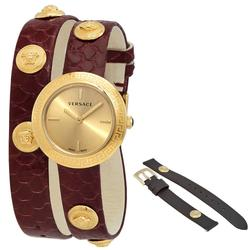 New Womens Versace Swiss w Gold Toned Dial