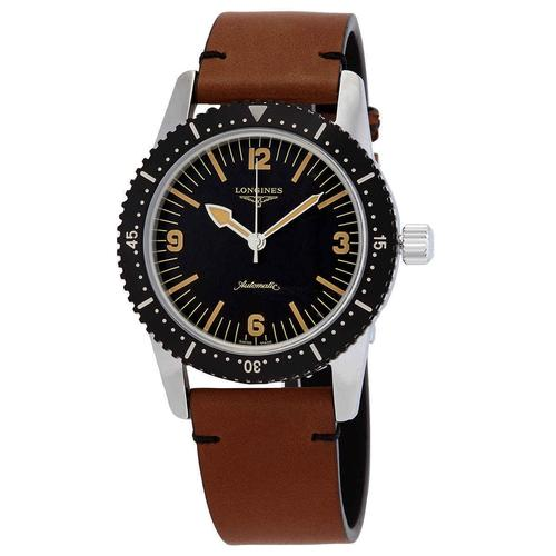 New Womens Longines Swiss Automatic w Brown Leather
