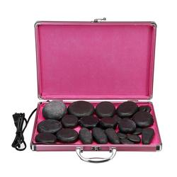 24pcs 110-220V Therapy Efficacy Spa Massage Stone