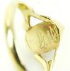 Petite Vintage 14K Gold Turquoise Ring