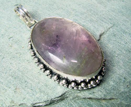 Magical Large Natural Stone Ethnic Handcrafted Pendant