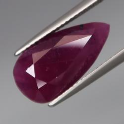 Huge 9.90ct collectors UNHEATED Ruby from Guinea