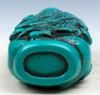 Arhat Buddha Turquoise Glazed Carved Snuff Bottle