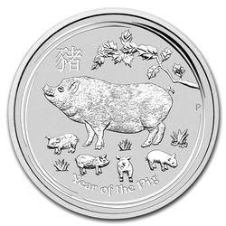 2019 Australia 1 oz Silver Lunar Pig