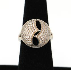 Sterling Silver Designer Dome Ring