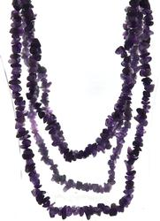 Long Natural Amethyst Necklace