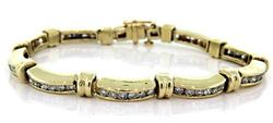 Very Nice Channel Set Diamond Bracelet
