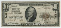 Nice 1929 Series $10 National of Los Angeles, CA (2491)