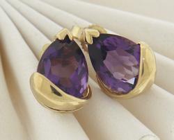Favorite Amethyst Yellow Gold Earrings