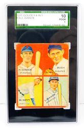 Rare 1935 Goudey 4 in 1 Pirates Baseball Card, Graded