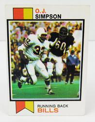 1973 O.J. Simpson, Bills Football Card