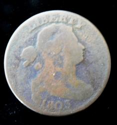 Rare 1803 U.S. Large One Cent Coin