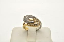 LADIES 14 KT TWO TONE DIAMOND RING