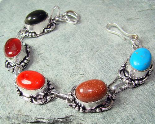 Fascinating Natural Stone Ethnic Handcrafted Bracelet