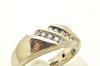 MENS 14 KT WHITE GOLD DIAMOND BAND / RING