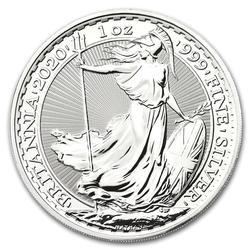 2020 1 oz Uncirculated Silver Britannia