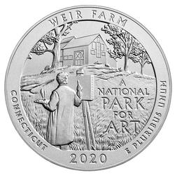 2020 Silver 5oz Weir Farm National Historic Site ATB
