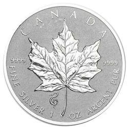 2013 Canada 1oz Maple Reverse Proof Snake Privy Mark