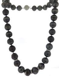 Trendy Graduated Tahitian Pearls w Diamond